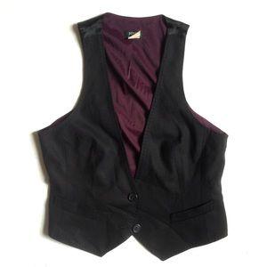 J Crew • tuxedo vest